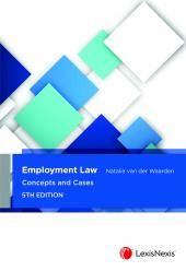 Employment Law: Concepts and Cases, 5th edition cover