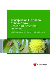 Principles of Australian Contract Law: Cases and Materials, 5th edition (eBook) cover