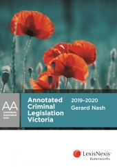 Annotated Criminal Legislation Victoria 2019-2020 cover