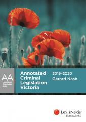 Annotated Criminal Legislation Victoria 2019-2020 cover