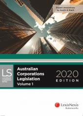 Australian Corporations Legislation 2020 cover