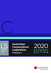 Australian Corporations Legislation 2020 - Student Edition cover