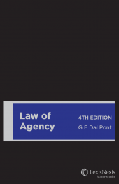 Law of Agency, 4th edition (Hardback) cover