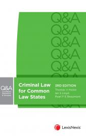 LexisNexis Questions & Answers: Criminal Law for Common Law States, 3rd edition cover