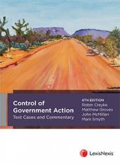 Control of Government Action Text, Cases and Commentary, 6th edition cover