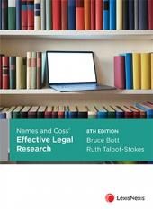 Nemes & Coss' Effective Legal Research, 8th edition cover