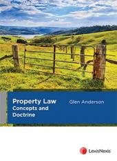 Property Law Concepts and Doctrine cover