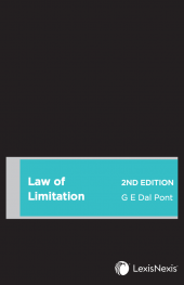 Law of Limitation, 2nd edition cover