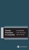 Family Provision in Australia, 6th edition cover