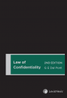 Law of Confidentiality, 2nd edition cover